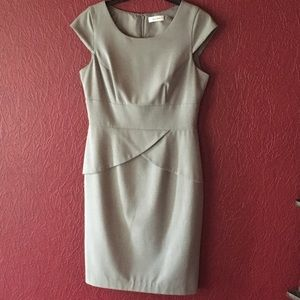 Calvin Klein Cap Sleeve Peplum Career Dress-6